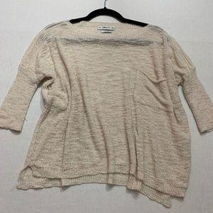 Zara Cream Dolman 3/4 Sleeve Crop Sweater